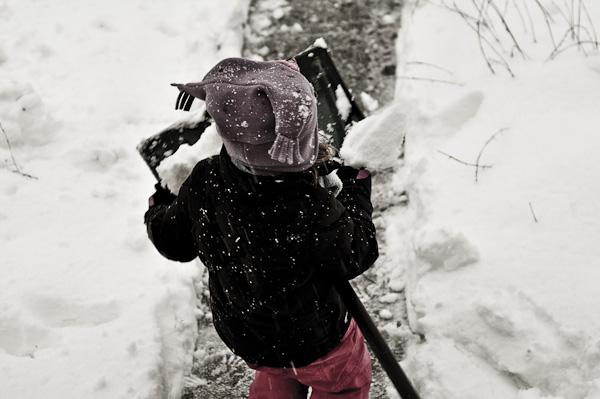 Grabby shovel